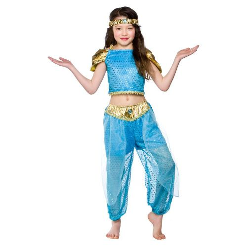 Childrens Girls Arabian Princess Costume for Arab Prince Aladdin Fancy Dress